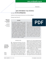 Métodos Para Determinar El Eje Eléctrico en Un Electrocardiograma.