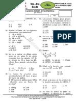 Examen Simulacro Matematica Primaria