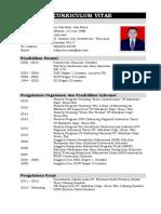 4 Download Contoh Cv Daftar Riwayat Hidup Terlengkap Ms Word Docx