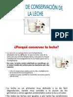 Metodos de Conservacion de la leche