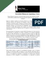 Inversión Minera en Apurímac