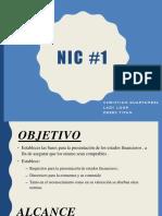 NIC 1 PRESENTACIÓN DE LOS ESTADOS FINANCIEROS
