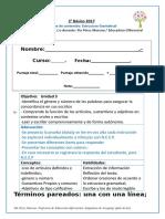 Prueba de Estructura Gramatical 10 de Octubre 2
