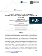 Usage of Interactive Virtual Reality Technology in Pre-clinical Medical Curriculum Delivery