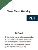 Lec 5 Sheet Metalworking