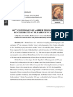 Mother Teresa Press Release