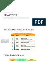 Práctica 1- Identificación de Rocas Sedimentarias