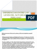 Diferencias Entre La Ley 1510 - DL 26002 y DL 1049