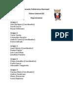 Lista de Grupos