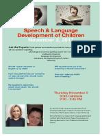 Speech & Language Development of Children