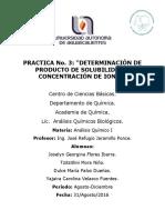 3. Determinación de Producto de Solubilidad y Concentracion de Iones