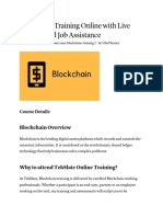 Blockchain Training Online With Live Projects and Job Assistance
