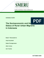 The Socioeconomic and Health Status of Rural–Urban Migrants in Indonesia by Budy P. Resosudarmo