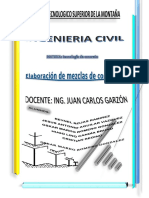 Elaboracion de Mezcla de Concreto