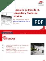 CAM. Ingeniería de Tránsito III. Capacidad y niveles de servicio.pptx