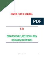 S 19-GO-Obras Adicionales, Recepción de Obra, Liquidación Del Contrato