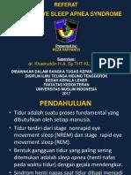 Referat Obstructive Sleep Apnea Syndrome Ppt