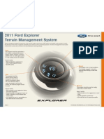 2011 Ford Explorer Terrain Management System