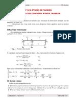 6.TP2-Etude d'Une Poutre Continue à 2 Travées