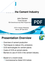 CCS in the Cement Industry