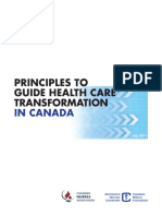 Principles to Guide Health Care Transformation