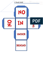 the prepositions of place dice