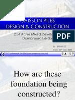 Caisson Piles Design & Construction