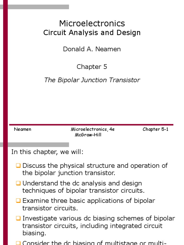 Chapter 5ppt Bipolar Junction Transistor Electrical Circuits Understand Dc Circuit Operation