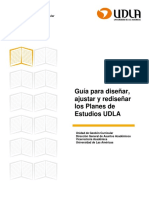 Guia Para Diseñar Ajustar y Rediseñar Los Planes de Estudios UDLA