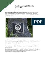 Certificazione Ambientale Degli Edifici La Progettazione Sostenibile