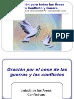Oración de Paz en Areas de Conflicto.