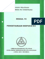 Modul 15. Pengetahuan Inspeksi K3