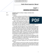 Public Works Inspection Manual - Part 1