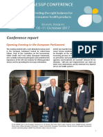 AESGP Conference Report  Brussels 2017