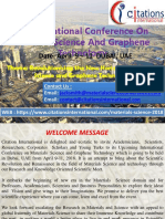 Materials Science Conferences 2018 | Materials Science Conferences