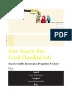 Gocheapshop online shopping classified portal