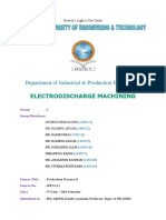 Electrodischarge Machining