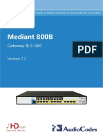 LTRT-10623 Mediant 800B Gateway and E-SBC User's Manual Ver. 7.2