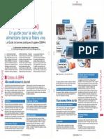 FR Revue Francaise d'Oenologie Sept-oct 2017 Un guide pour la sécurité alimentaire dans la filière vins