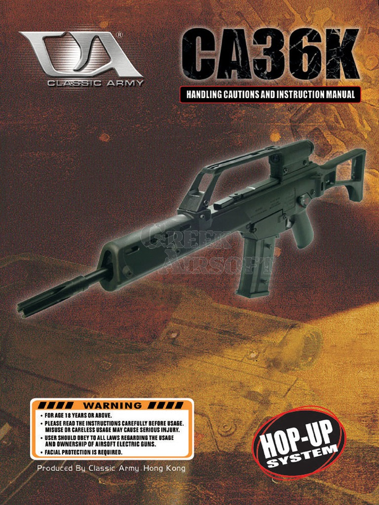 classic army airsoft manuals