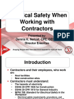 Electrical Safety When Working With Contractors