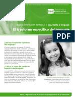 NIDCD Specific Language Impairment FS Spanish