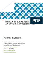 Wireless Multi-Services Using CAPs MAN With IP Management