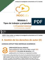 1.3.3. Propiedad Intelectual - Licencias Copyleft