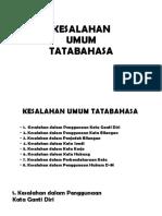 KESALAHAN TATABAHASA