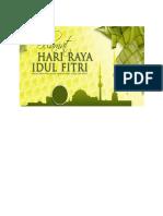 Segenap Keluarga Besar Pondok Sisemut Ungaran Mengucapkan Selamat Hari Raya Idul Fitri 1435 h