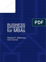 Business Math for Mbas Chapter One