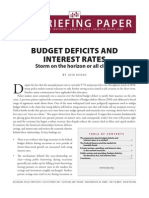 Budget Deficits and Interest Rates