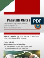 Step 4 L. Arts - Papa tells Chita a Story
