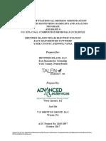 Brunner Basin 6 Statistical Method Certification